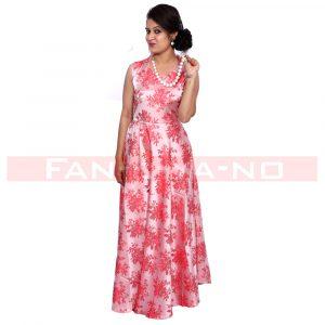 Pink Summer Gown in Silk