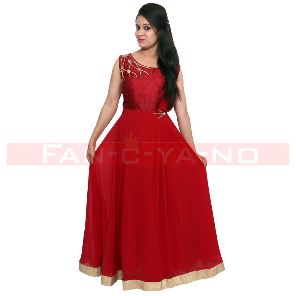Red Evening Gown (full length)
